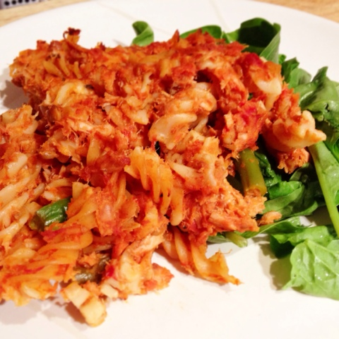 TUNA PASTA BAKE WITH VEGETABLE TOMATO SAUCE & LENTILS - Cooking for ...