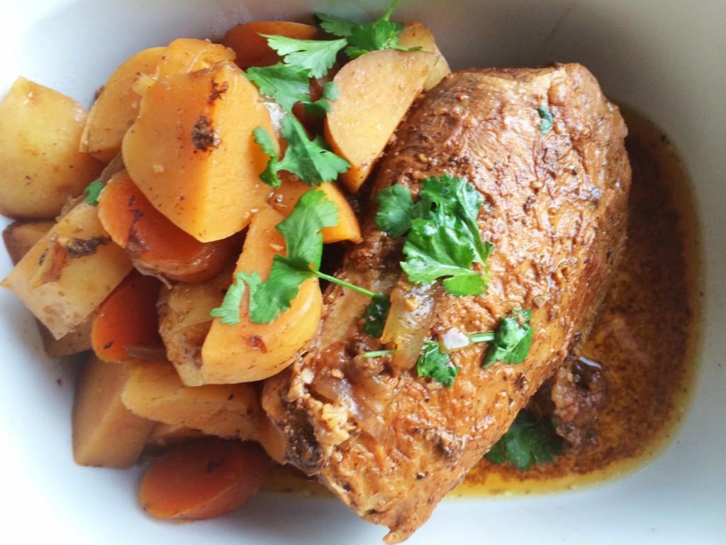 Slow Cooked Balsamic Glazed Beef Eye Round Roast