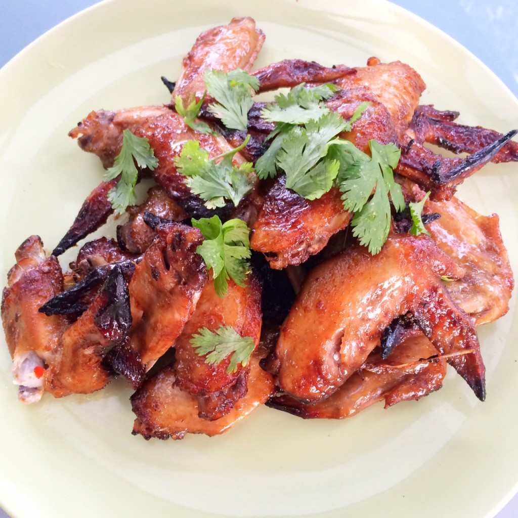 how to cook marinated chicken wings in the oven