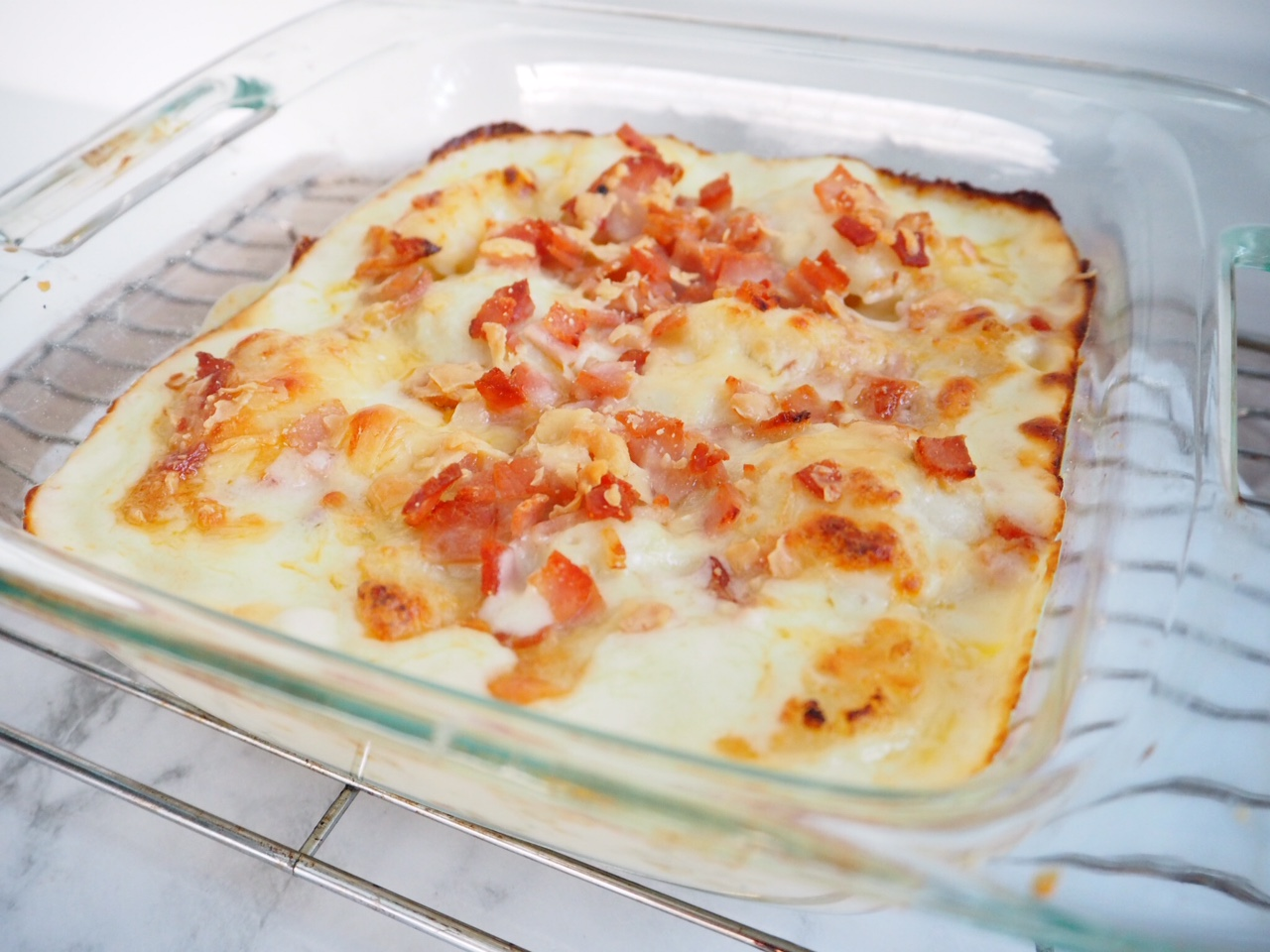 Cheesy Cauliflower and Bacon Bake - Cooking for Busy Mums