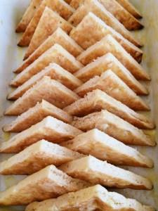 Flat Bread Cut into 1/4