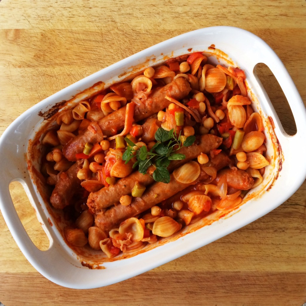 Sausage, Vegetable and Pasta Hot Pot