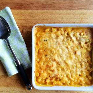 Gnocchi, Pumpkin, Chicken and Parmesan Bake