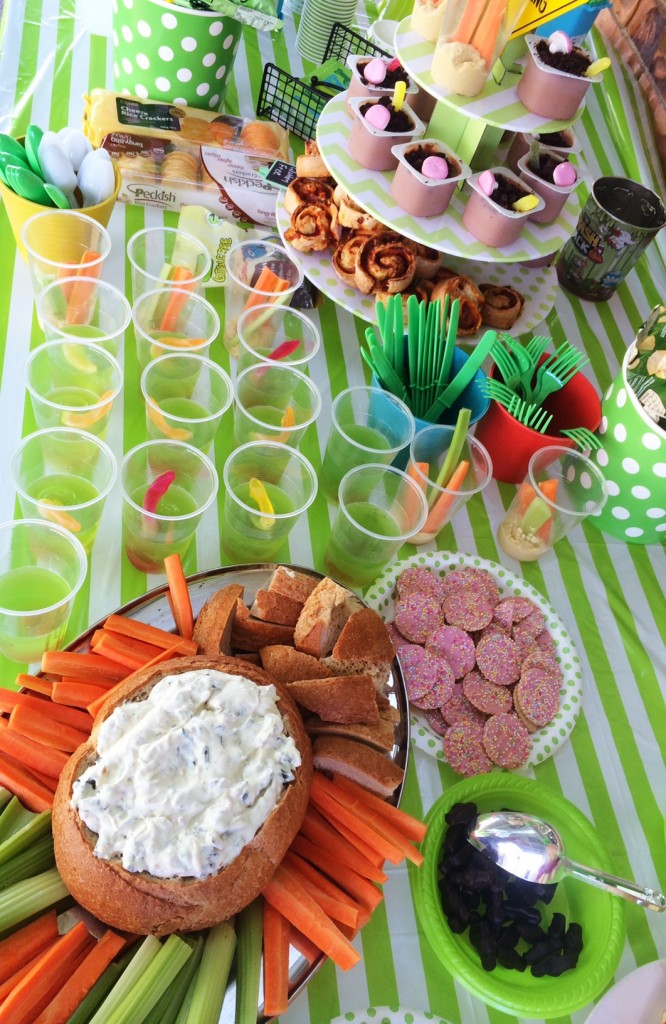 Jelly Cups, Cobb Dip, Biscuits