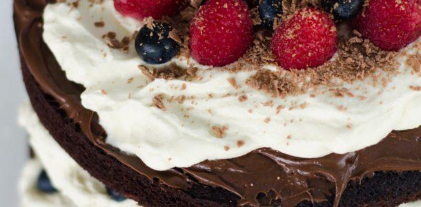 Chocolate Berry Tower Cake