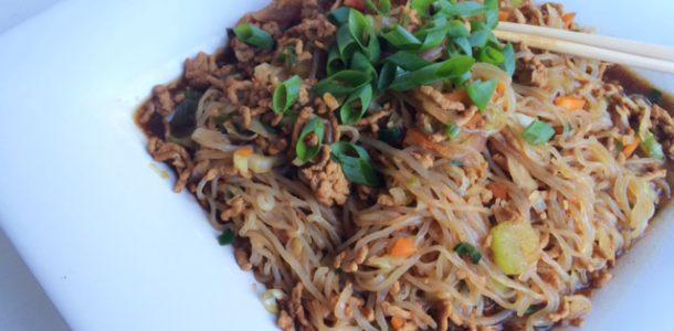 Low Fat Pork Chow Mein Noodles