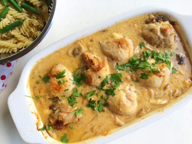 Creamy Chicken and Mushroom Casserole