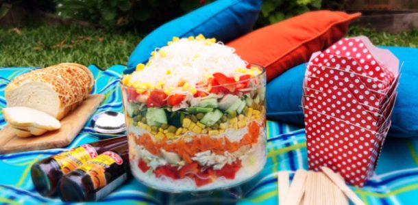 Layered Noodle Salad