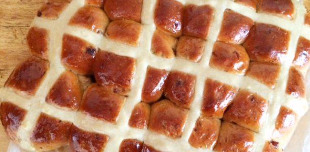 Hot Cross Buns using a Bread Maker