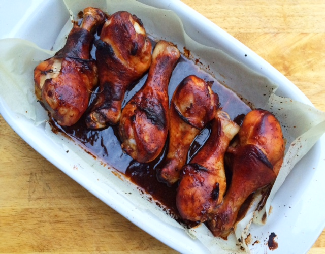 Easy Oven Baked Honey Soy Chicken Drumsticks