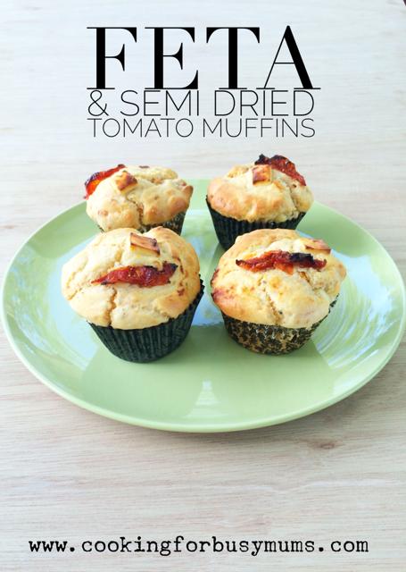 Feta and Semi Dried Tomato Muffins