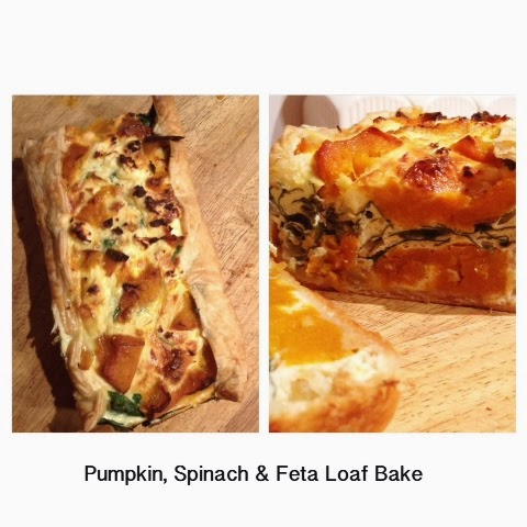 Pumpkin, Spinach and Feta Loaf