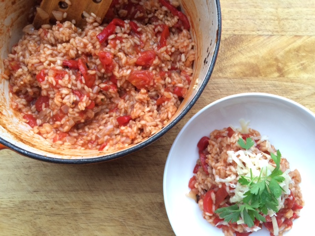 Oven Baked Roasted Capsicum (Peppers) Risotto plus WIN!