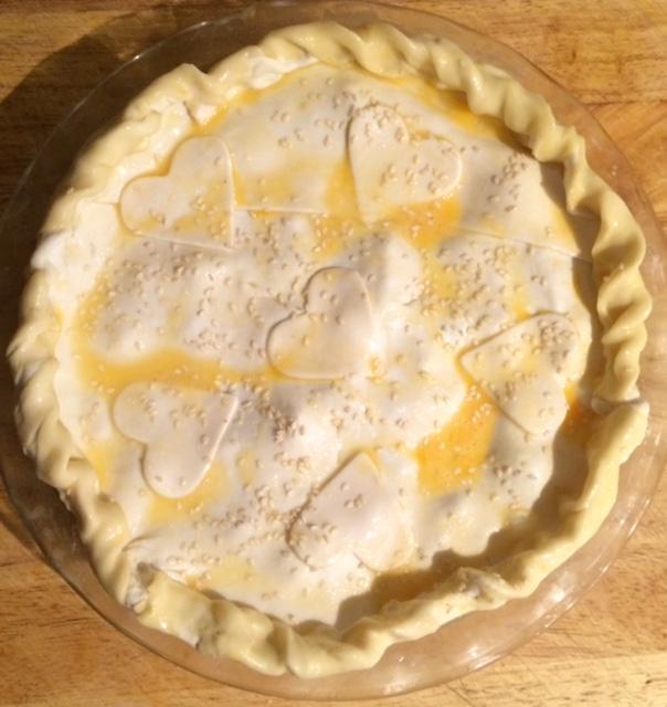 Classic Chicken, Mushroom and Potato Pie, celebrating 100 years of Pyrex