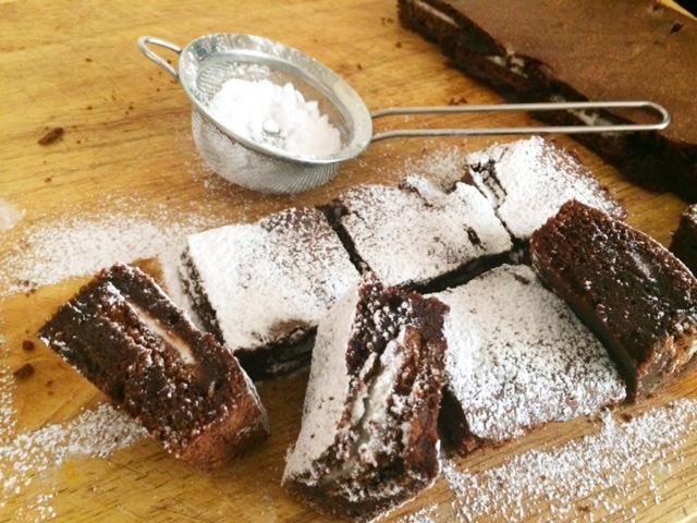 Choc Mint Slice Brownie
