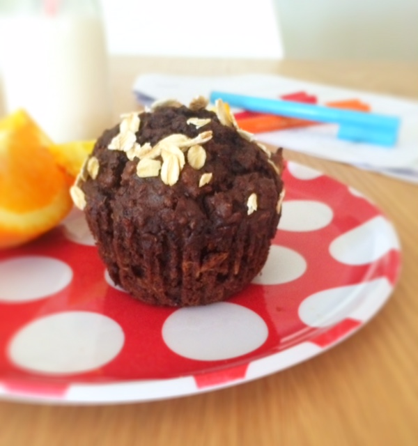 Carrot, Quinoa and Cacoa Breakfast Muffins