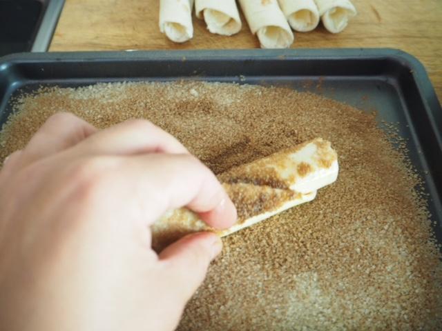 Cinnamon Sugar Crusted Coated Cream Cheese Wraps