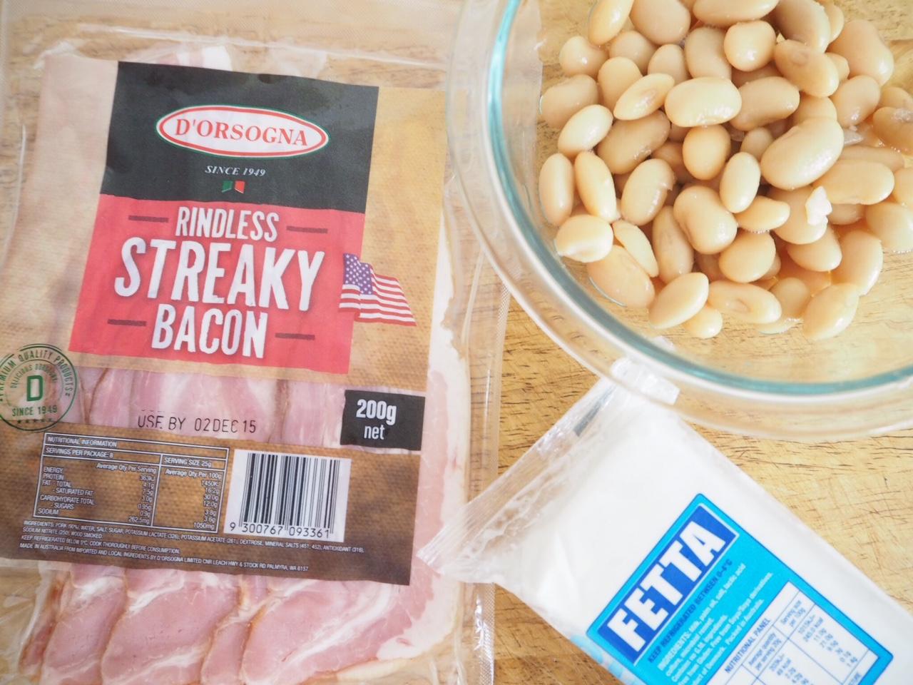 Butter Bean, Fetta and Bacon Dip