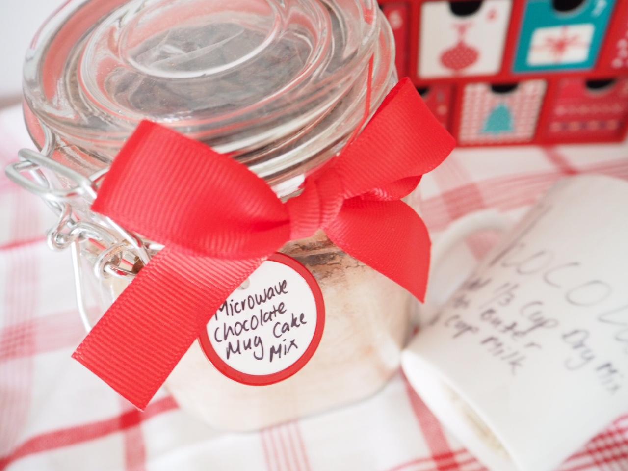 Homemade Gift - Chocolate Mug Cake Mix