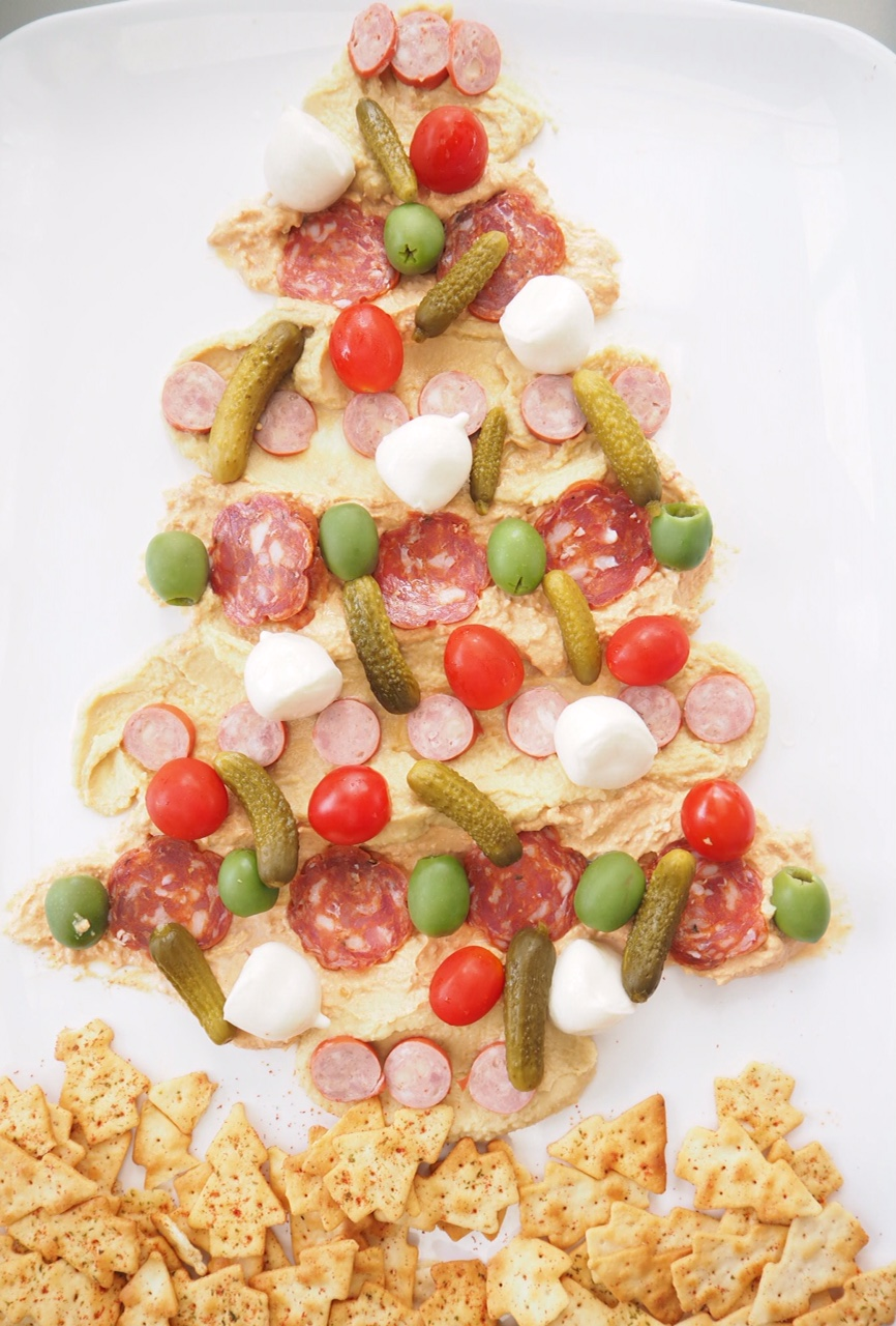 Antipasto Dip Christmas Tree