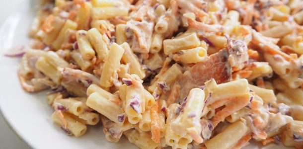 Bacon and Coleslaw Pasta Salad