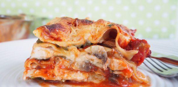 Chicken, Mushroom and Spinach Lasagna