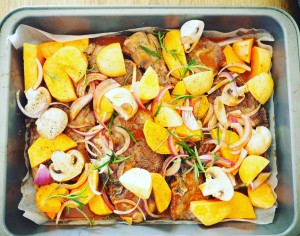 Lamb Forequarter Chop and Vegetable Tray Bake