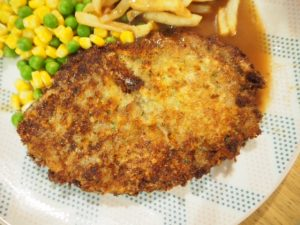 Fresh Breadcrumb with Cheese and Herb Beef Schnitzel