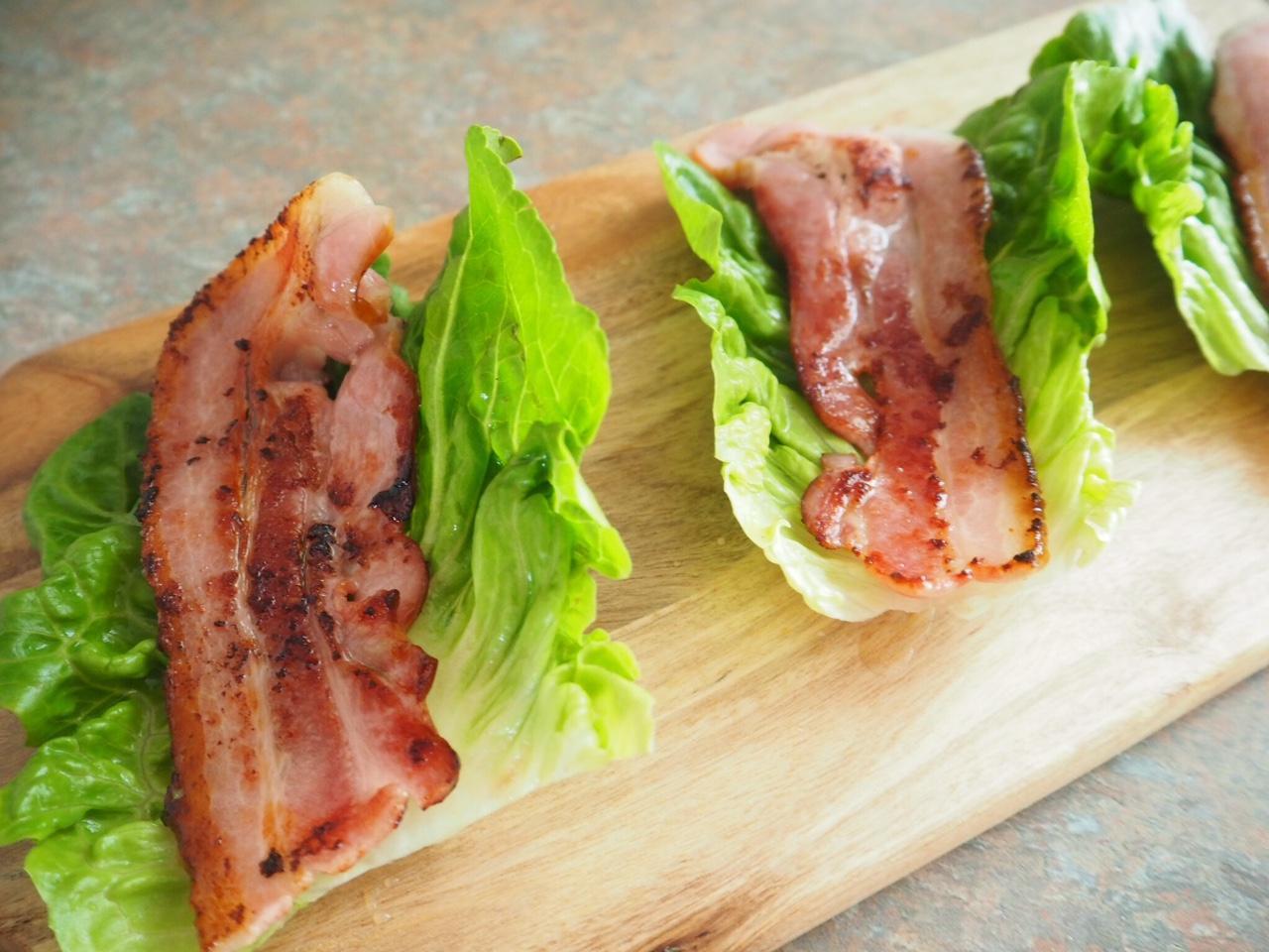 Maple Streaky Bacon Lettuce Cups