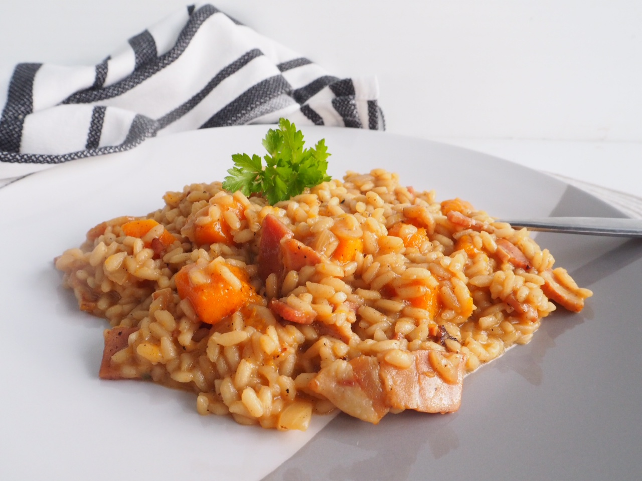 Maple Streaky Bacon and Pumpkin Risotto
