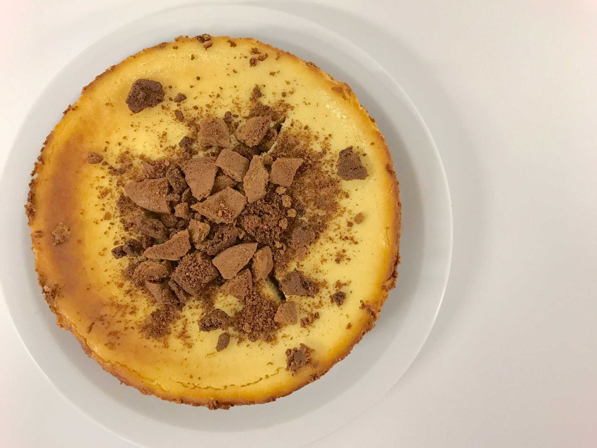 Baked Eggnog Cheesecake