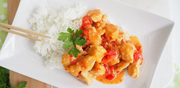 One pan sweet chilli chicken