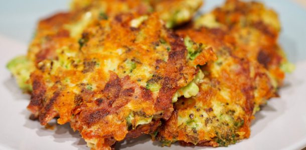 Pepperoni, Broccoli and Cheese Fritters