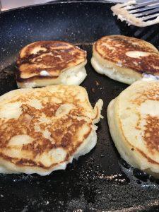 Ricotta Pancakes with Banana and Honey