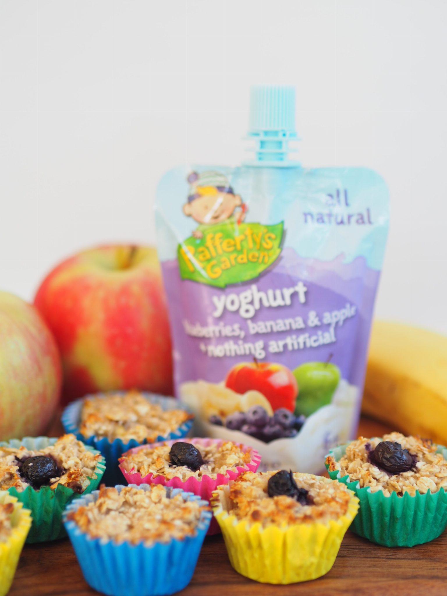 Oaty Yoghurt Blueberry, Banana and Apple Mini Muffins