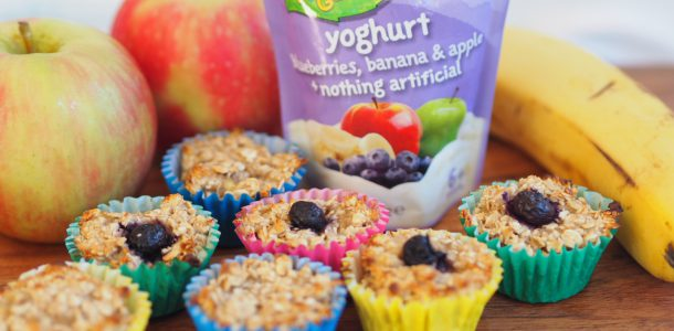 Oaty Yoghurt Blueberry, Banana and Apple Mini Muffins