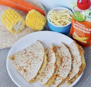 Cheesy Wholemeal Chicken, Sweet Corn & Barley Quesadillas