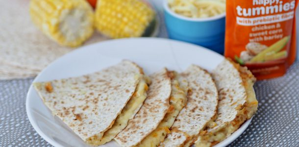 Cheesy Wholemeal Chicken, Sweet Corn & Barley Quesadillas