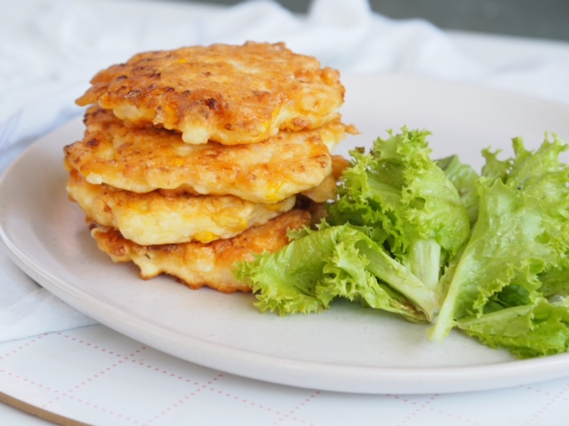 Chicken, Cauliflower, Corn and Feta Fritters - Cooking for ...