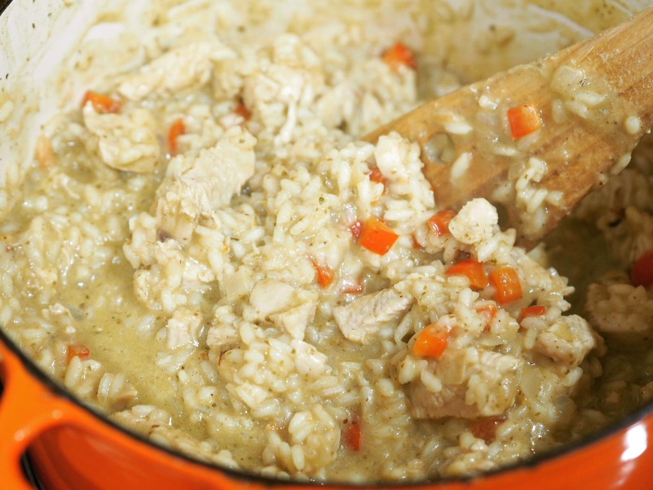 Chicken Basil Pesto Risotto