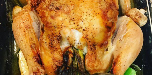 Super Easy Flavour Packed Roast Chicken - Eschallot and Garlic