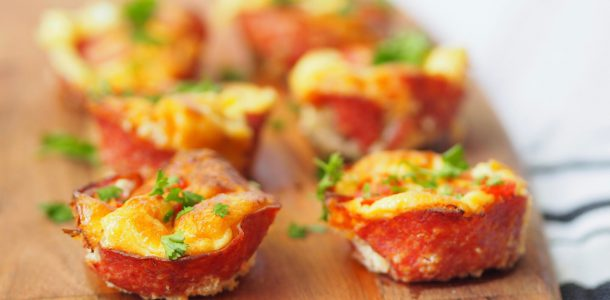Omelette Salami Cups
