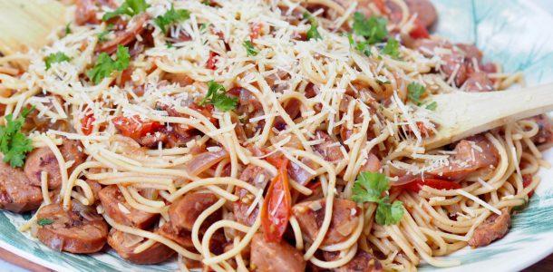 Simply Chorizo and Tomato Spaghetti