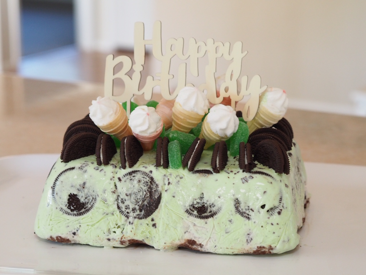 Choc Mint and Oreo Ice Cream Cake