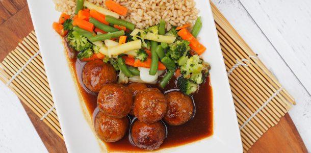 Speedy Saucy Asian Meatballs