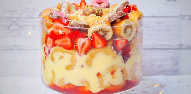 Doughnut Strawberry Trifle