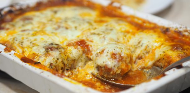 Baked Jumbo Meatballs in Tomato Sauce