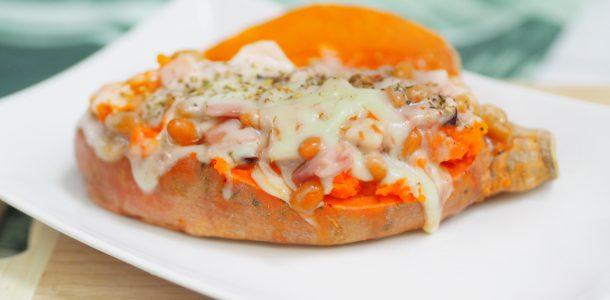 Microwave Baked Sweet Potato