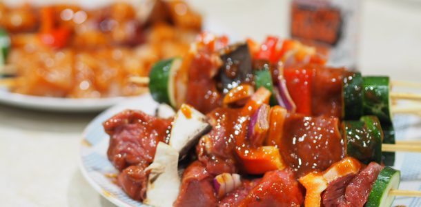 Beef and Chicken Kebabs