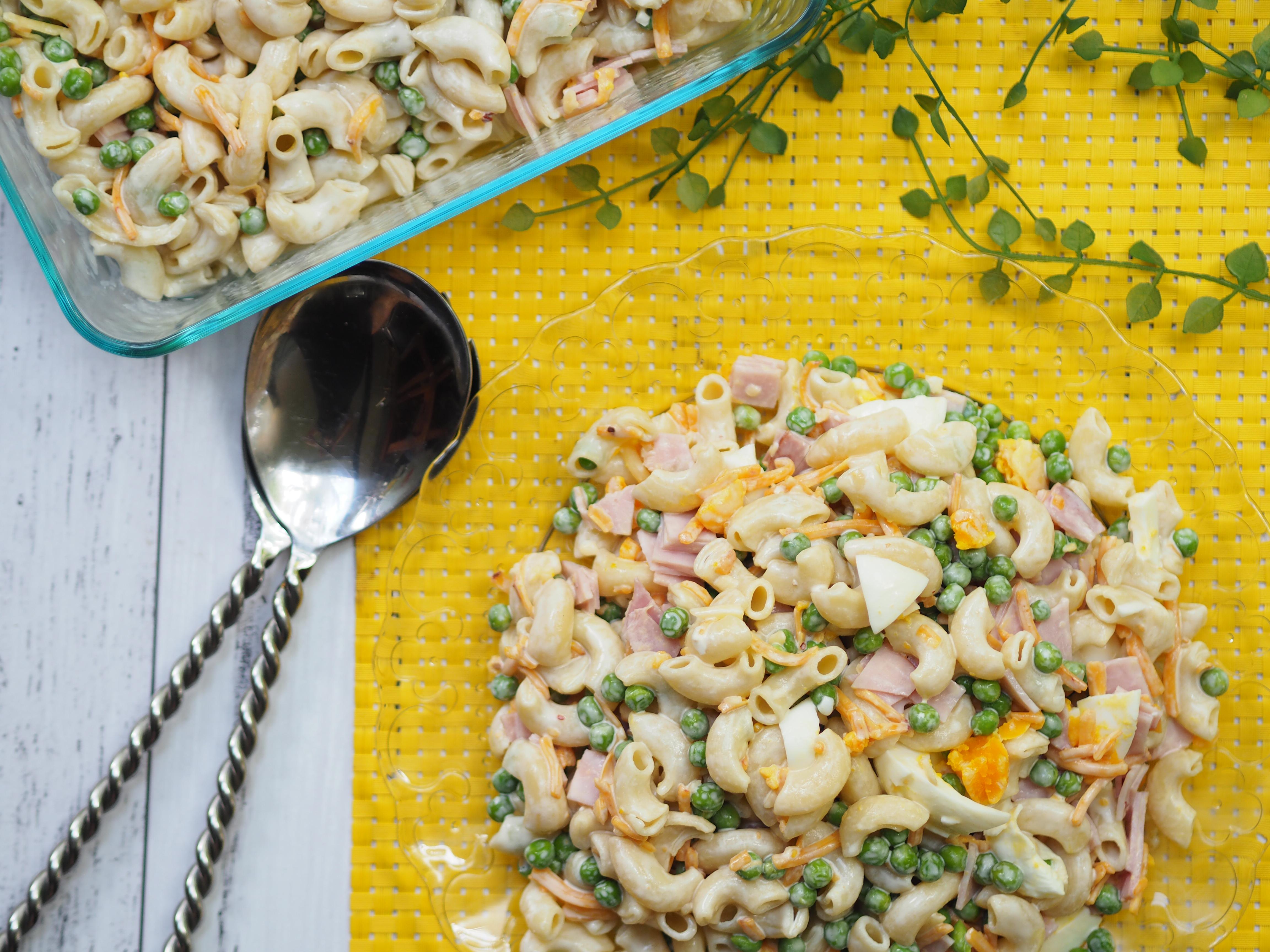Picnic Salad - One Pot Ham, Pea,Cheese and Egg Pasta Salad